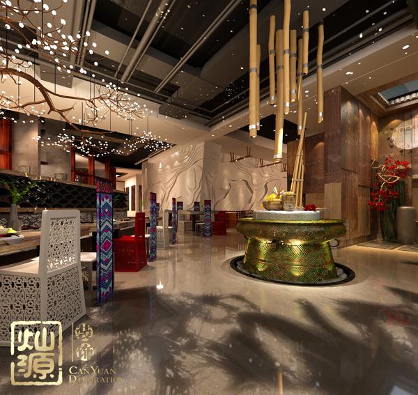 餐饮空间设计案例 灿源装饰空间布局思维解析