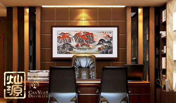 灿源装饰对办公空间新型背景墙材料的选择
