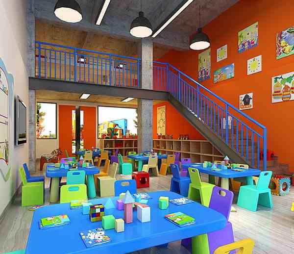 紅星幼兒園億博國際開戶施工案例--燦源裝飾
