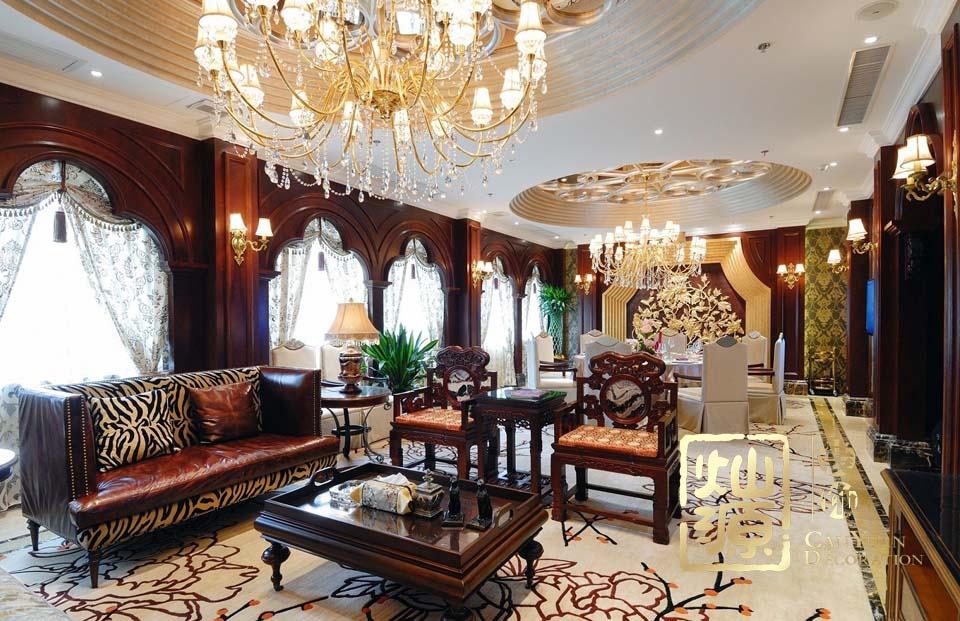大小姐私人会所中餐厅亿博国际开户施工案例--灿源装饰