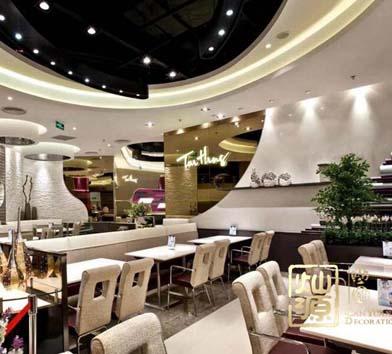 盛天华府西餐厅亿博国际开户设计案例-灿源装饰