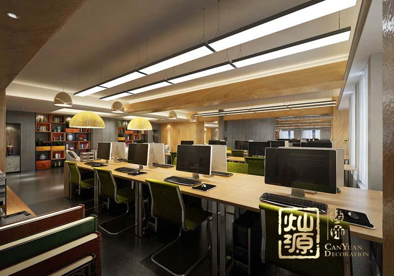 青龙化学建材加工制造行业办公室亿博国际开户施工案例--灿源装饰