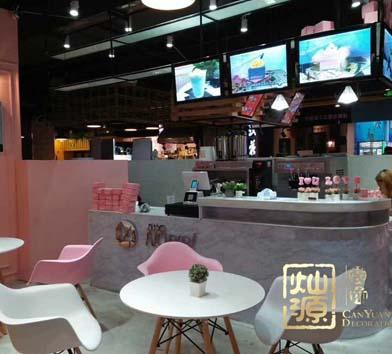 NOBIBI朝陽地鐵站時尚甜品店億博國際開戶案例-燦源裝飾