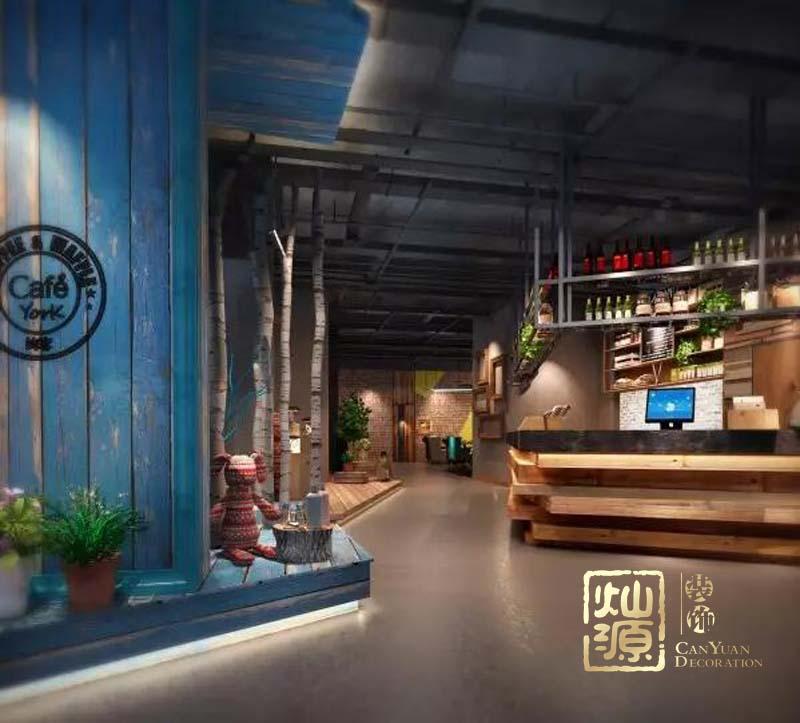 榮和公園尊府工業風西餐廳億博國際開戶案例-燦源裝飾