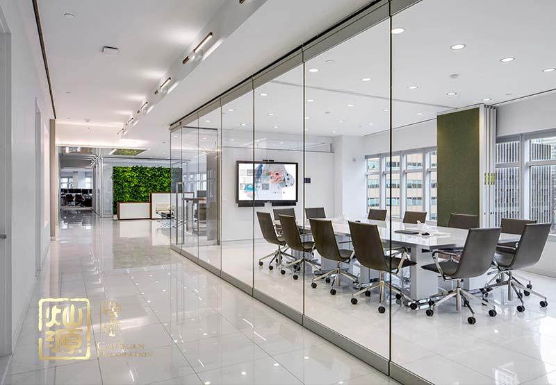 萬科大廈現代風格辦公室億博國際開戶案例-燦源裝飾