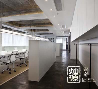 天健大廈創意辦公空間設計億博國際開戶案例-燦源裝飾