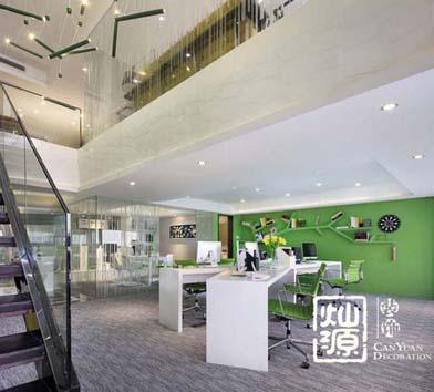 保利領秀前城南寧LOFT辦公室設計億博國際開戶案例-燦源裝飾