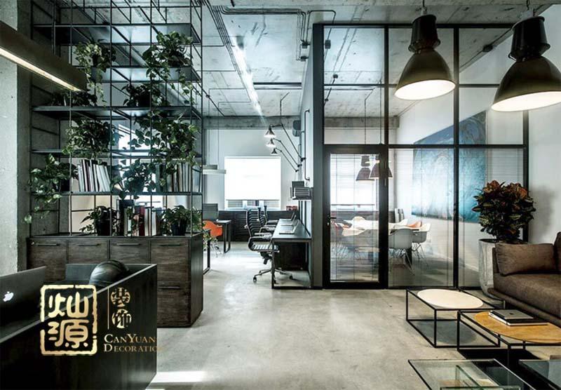 泉港·江南企業總部工業風辦公室設計案例-燦源裝飾