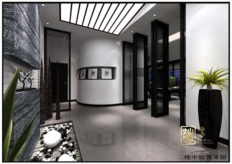富雅国外金融中式风格办公室设计案例赏析-大红鹰在线平台装饰