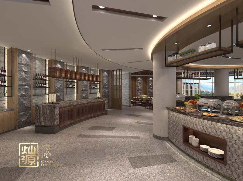 天沐中式餐厅亿博国际开户案例赏析-灿源装饰
