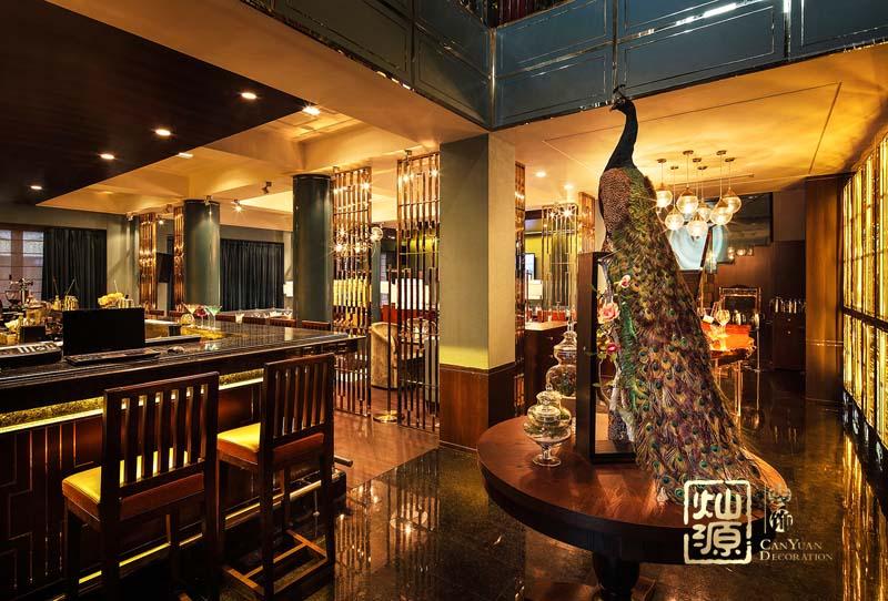 人和萊茵花語餐廳億博國際開戶案例-燦源裝飾