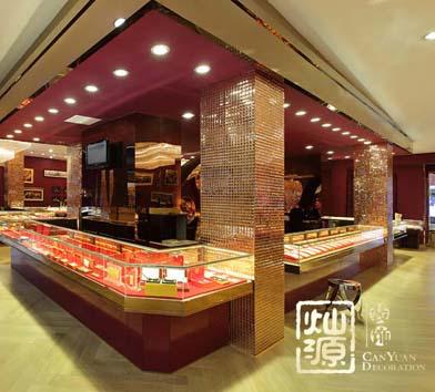 萬寶緣珠寶展廳億博國際開戶案例-燦源裝飾