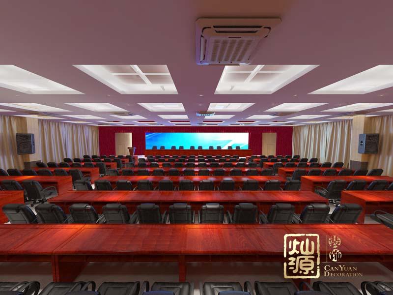 学校报告厅南宁多功能会议厅设计案例—灿源装饰