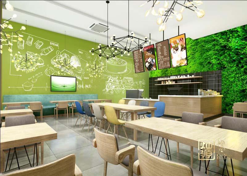 韩美滋咖啡店设计亿博国际开户案例-灿源装饰