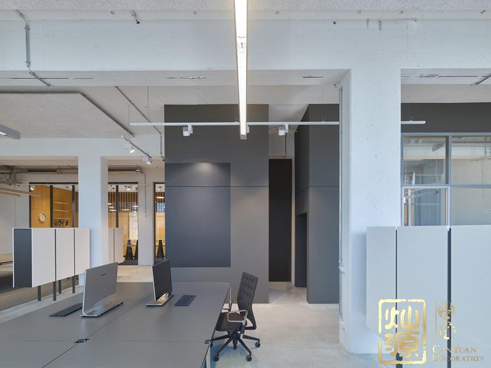 小型网络公司时尚科技办公室亿博国际开户设计案例-灿源装饰