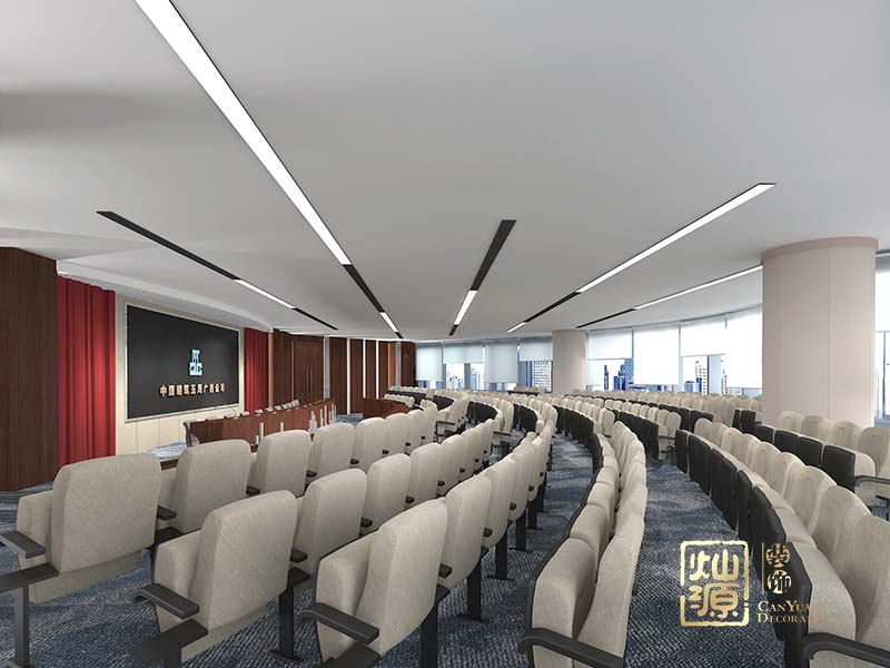 萬町大廈辦公樓設計億博國際開戶案例-燦源裝飾