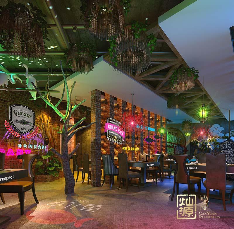 鱼儿宝主题餐厅设计亿博国际开户案例-灿源装饰