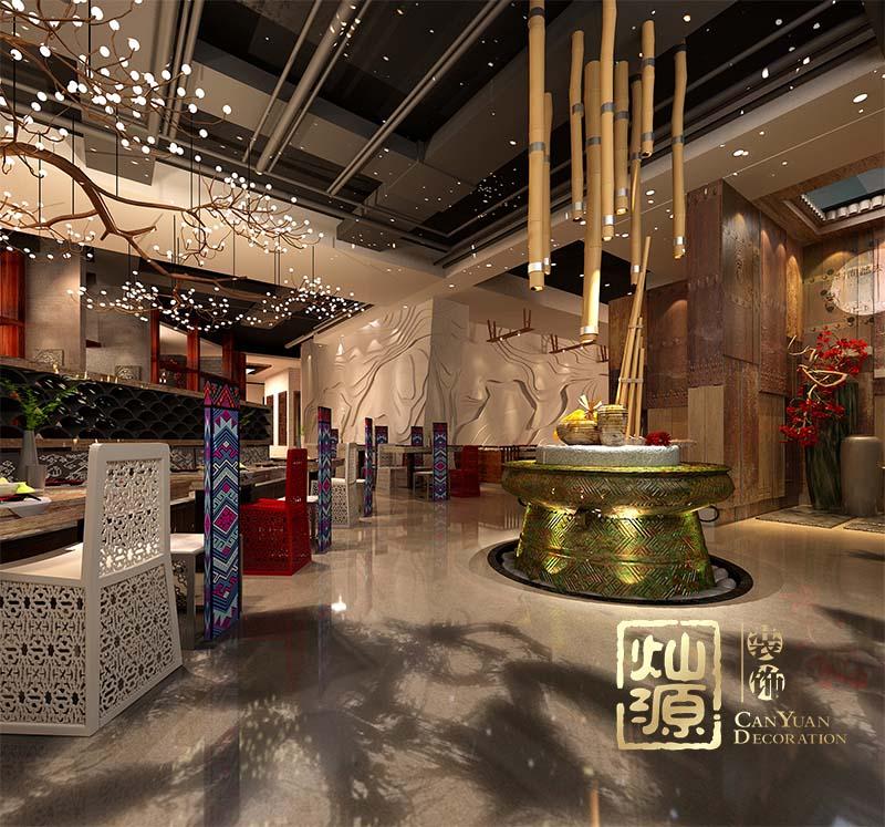 邕城家宴萬象店餐飲店設計案例_燦源裝飾