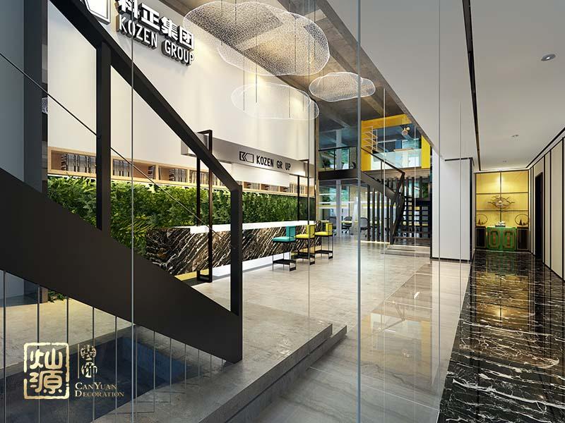 loft办公室亿博国际开户大厅效果图
