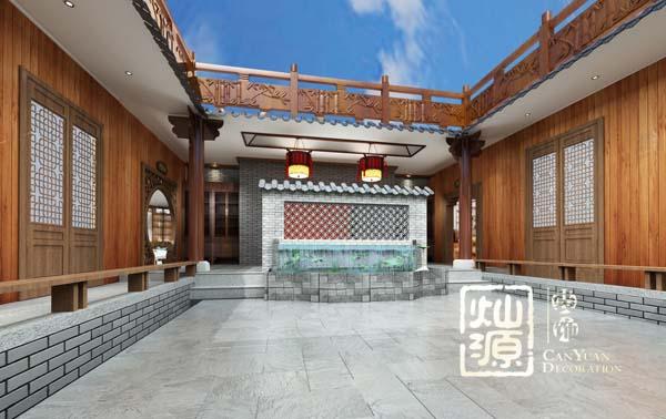 四合院別墅設計億博國際開戶案例-燦源裝飾