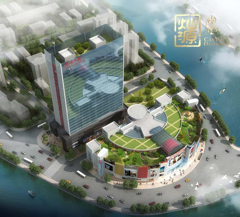 商业广场设计俯视图