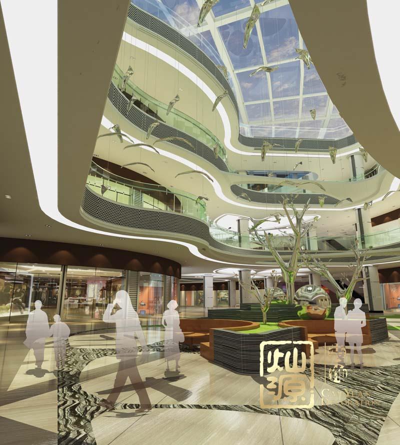 商业广场设计采光井效果图