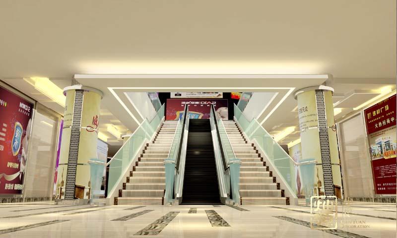 商业广场侧入口设计效果图