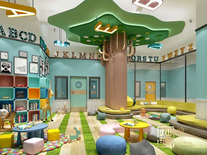 幼兒園設計億博國際開戶閱讀室效果圖