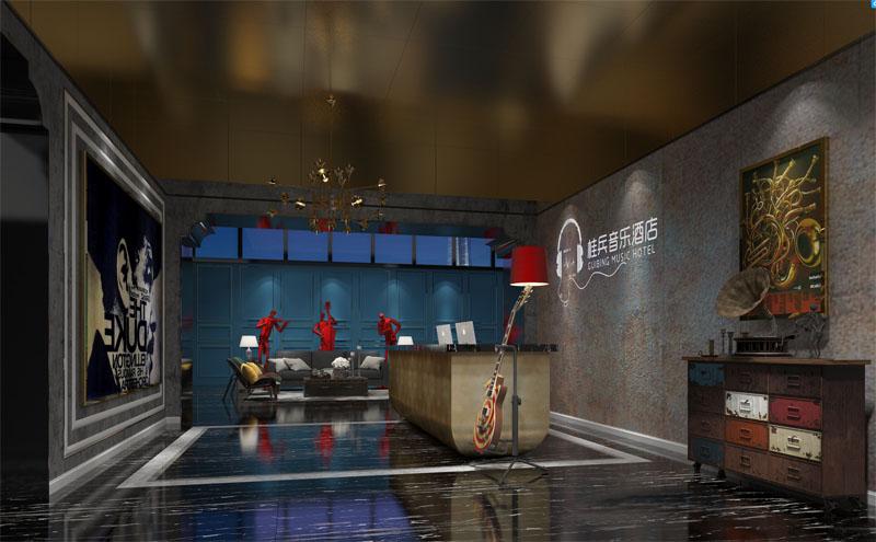 音樂主題酒店設計億博國際開戶案例-燦源裝飾