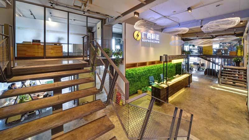 loft办公室亿博国际开户大厅实景图