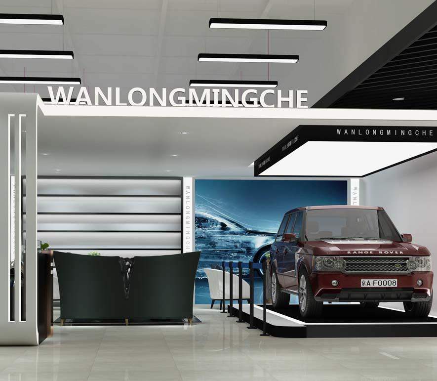 万隆汽车展厅设计亿博国际开户案例-灿源装饰