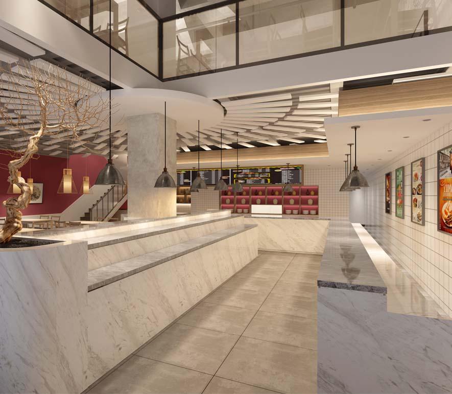 家餐新中式自助簡餐廳億博國際開戶-燦源裝飾