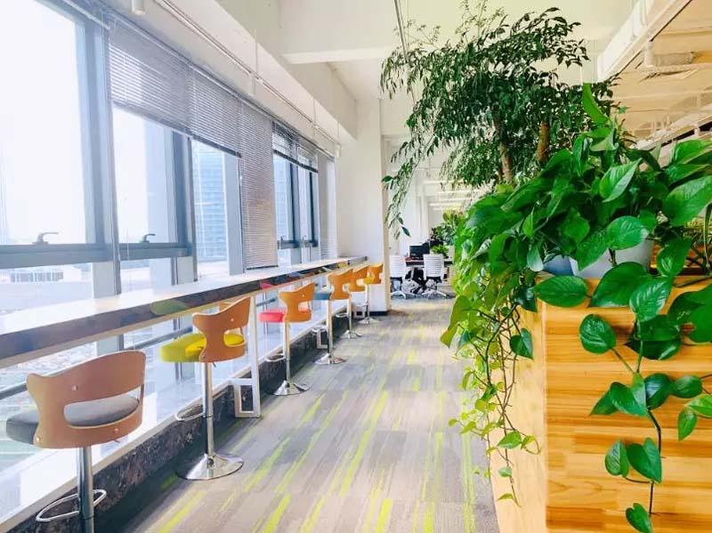 办公楼亿博国际开户休闲区实景图