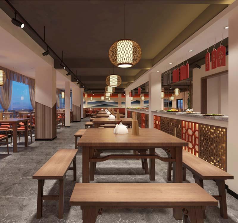 西湘记餐厅设计大红鹰论坛高手版案例-大红鹰在线平台装饰
