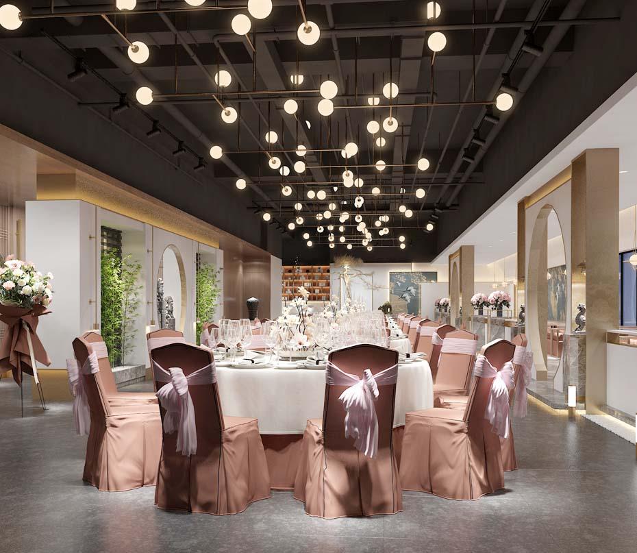 南宁景程酒店宴会厅餐厅亿博国际开户效果图案例-灿源装饰